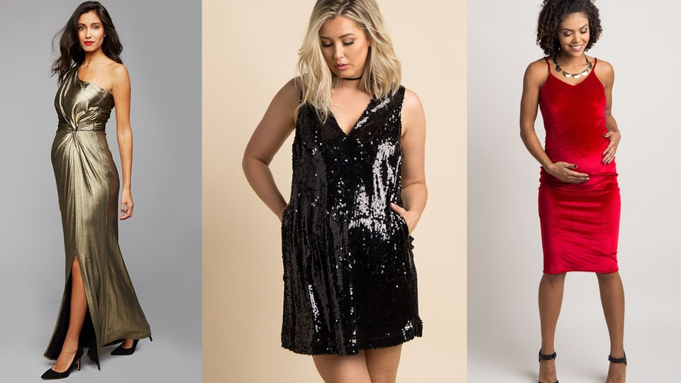 11 New Years Eve 2017 Maternity Dresses That Will Make Your Bump Shine