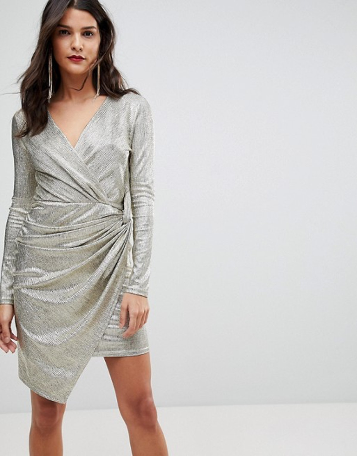 Morgan Wrap Front Mini Dress
