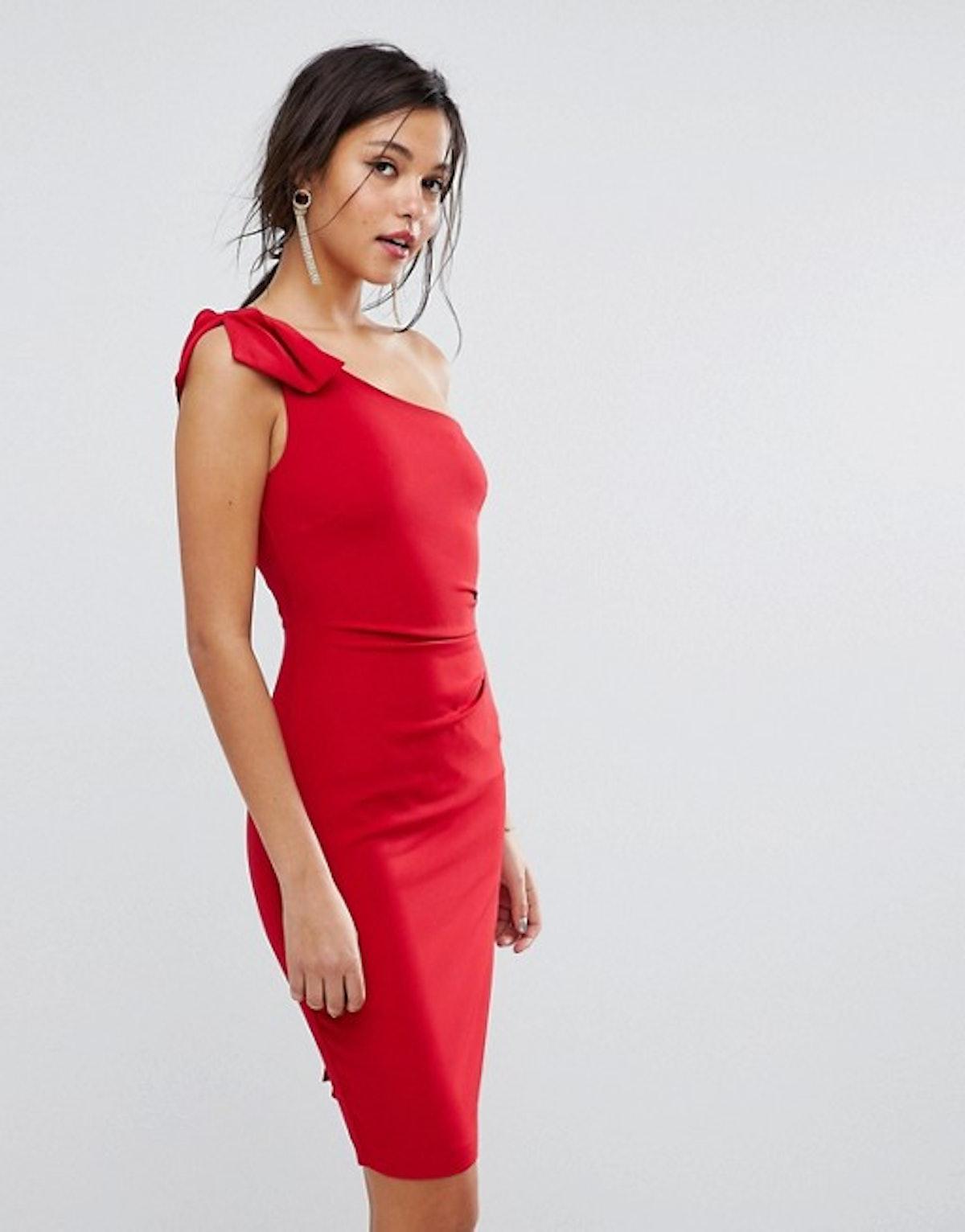 Oasis One Shoulder Mini Dress