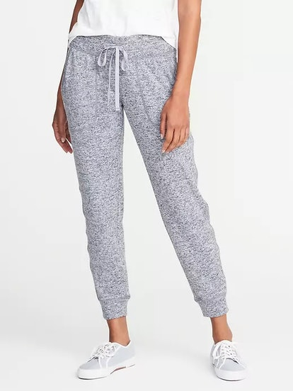 Mid-Rise Sweater-Knit Joggers