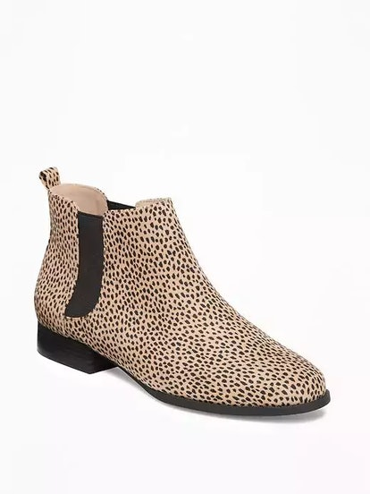 Sueded Chelsea Ankle Boots