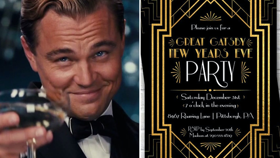 1404ee4a08c1 Throw A 'Great Gatsby' Themed New Year's Eve Party With These 7 Tips