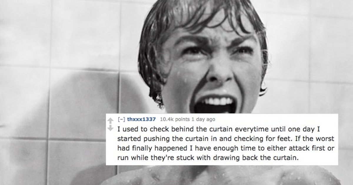 This Post About Checking The Shower Curtain For Murderers Has