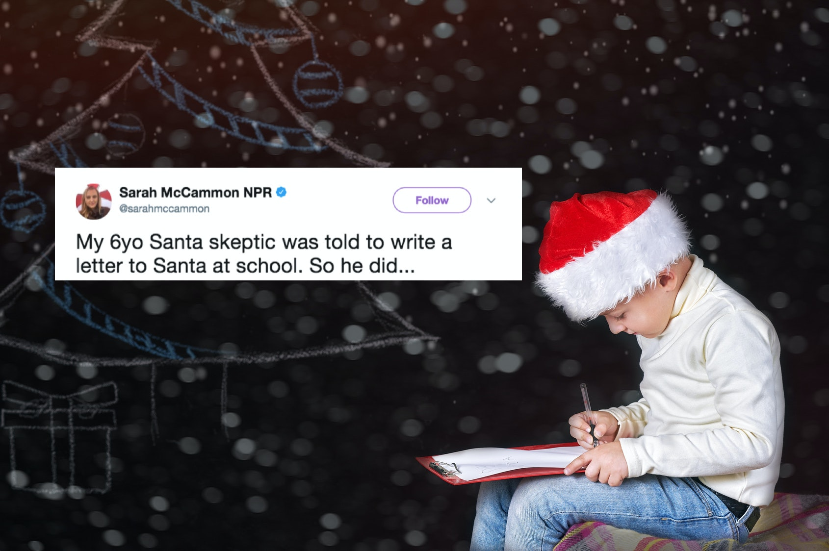 This YearOld SkepticS Letter To Santa Claus Is Going Viral  The