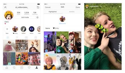 Snapshot of Instagram's Stories Highlights Tool