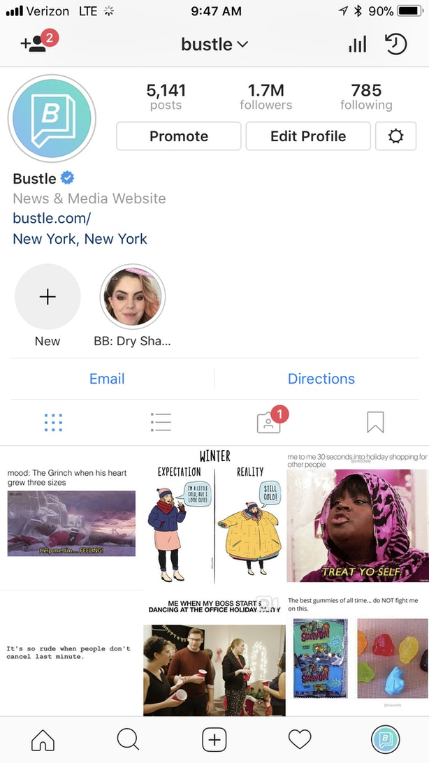 Why dont i have instagram story highlights heres what to do if bustle ccuart Choice Image