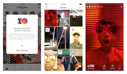 Snapshot of Instagram's Stories Archive Tool