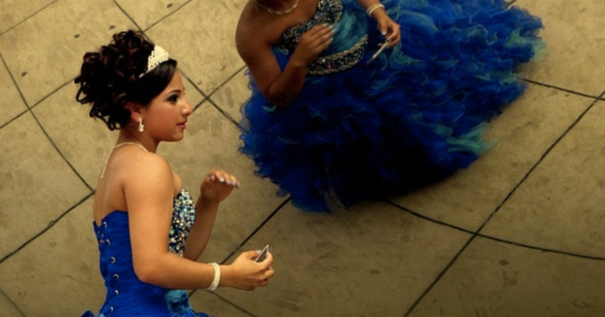 d6575b683e0 These Teens Wore Their Quinceañera Dresses To Protest Immigration Laws In  Texas
