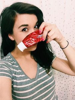 Woman Testing Toothpaste Pregnancy Test
