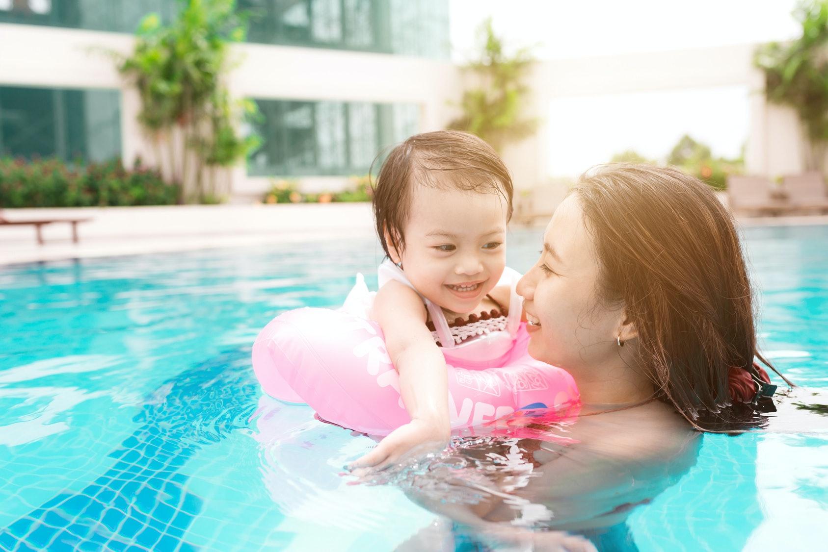 Undressed pool joy