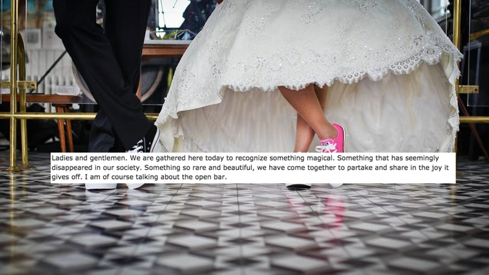 16 Ridiculously Funny Things People Have Said In Wedding Speeches