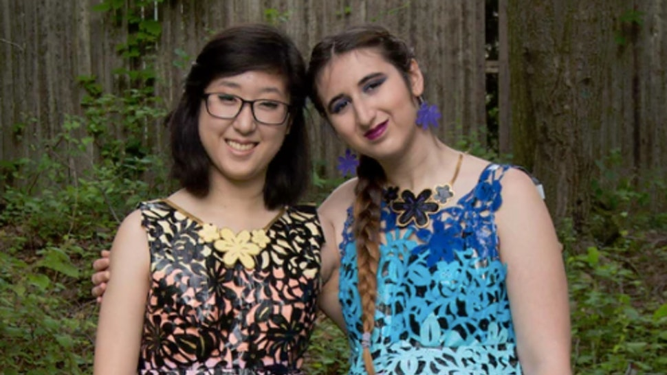 10a6056389 These Prom Dresses Made Out Of Duck Tape Will Totally Blow Your Mind —  PHOTOS
