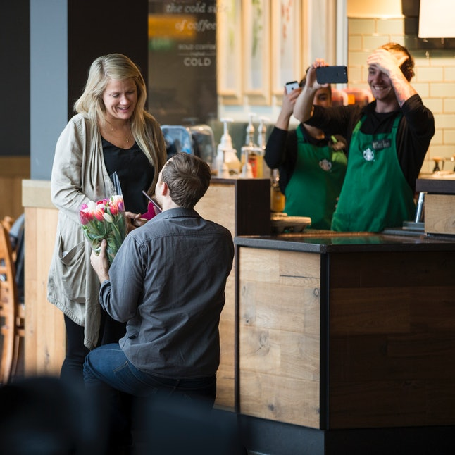 The Story Behind This Couple's Starbucks Proposal Is Over