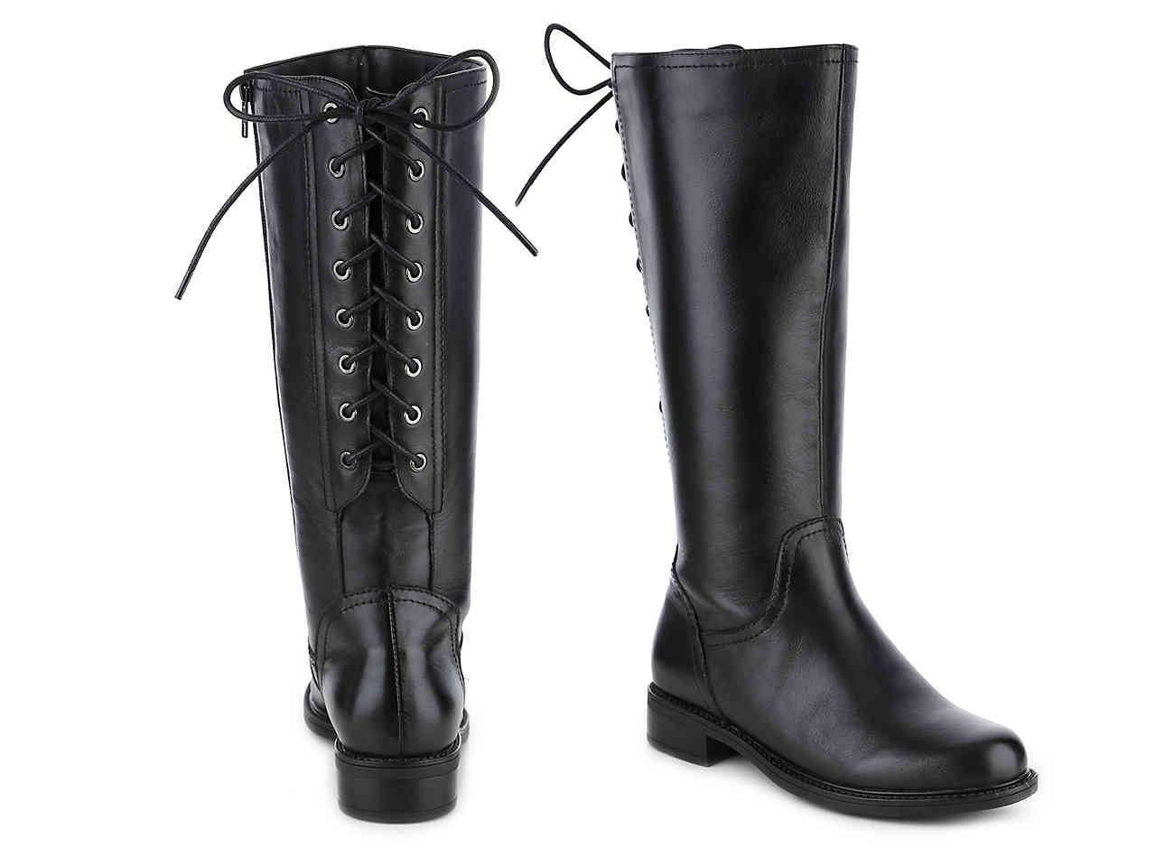 wide calf lace up combat boots