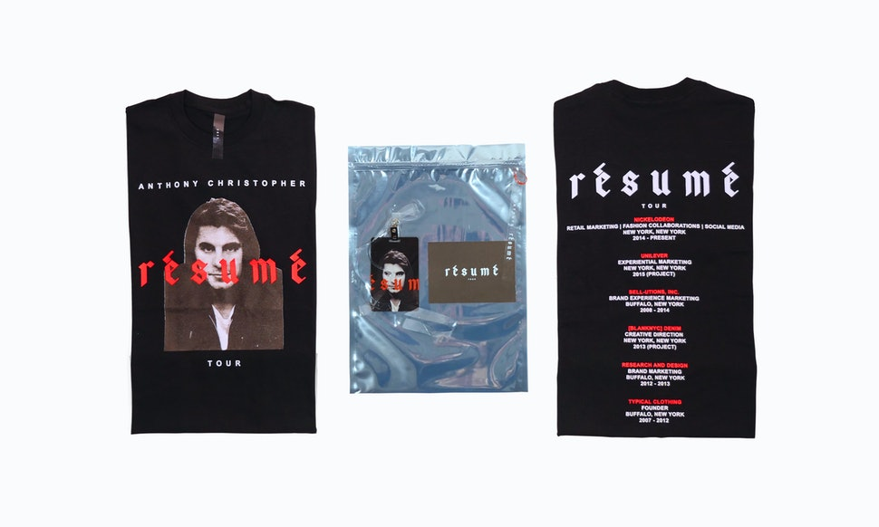 This Man Made His Resume Into Merch You Need To Step Your Game Up