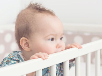 baby standing up in crib, not going to sleep