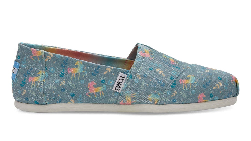 Where To Buy TOMS  Unicorn Shoes If You Want To Add Some Sparkle To Your  Step 91c01eb48624