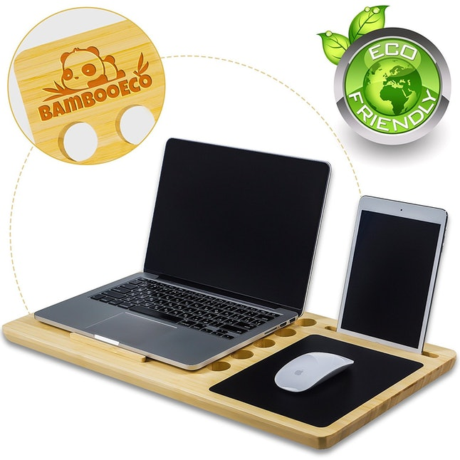 6an Eco Friendly Bamboo Lap Desk