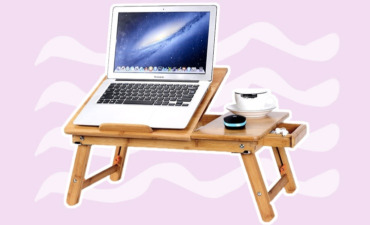 """Laptop Cushion Desk Bed Pillow Cushioned Lap Tray Adjustable Stand Computer 15/"""""""