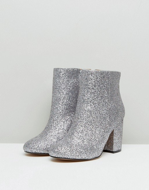 wide fit glitter boots