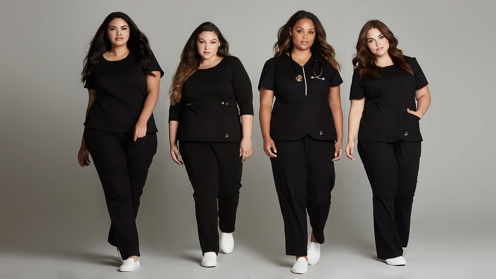 Cute Plus Size Scrubs Are Hard To Find, But Jaanuu\'s Curve ...