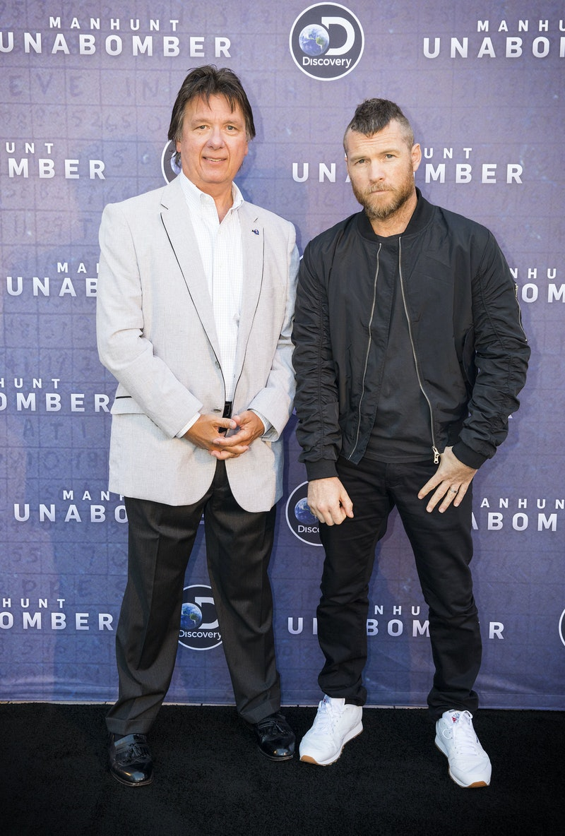 Actors pose on the red carpet for 'Manhunt: Unabomber.'