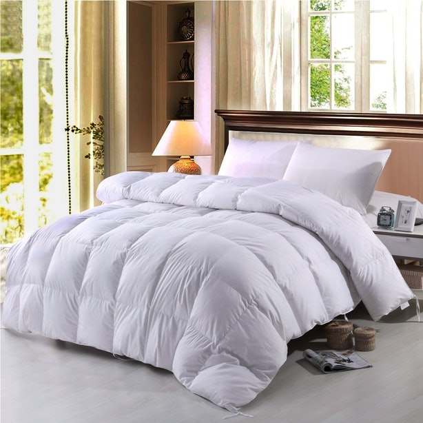 size down gs fill count deals hungarian thread king comforter goose power