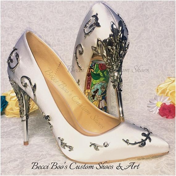 These 'Beauty \u0026 The Beast' Bridal Heels