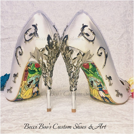 These Beauty The Beast Bridal Heels Will Channel Your Inner Belle