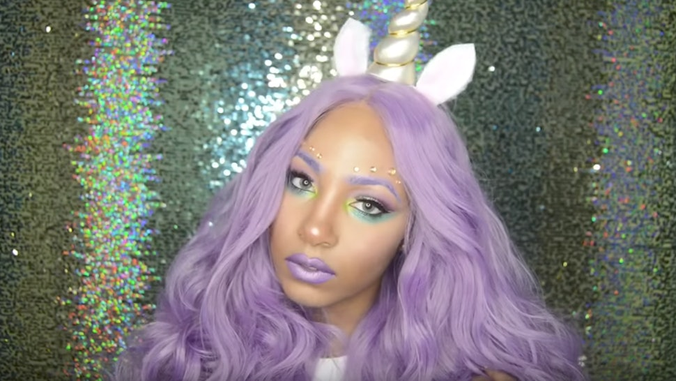 23 Unicorn Makeup Tutorials That Will Leave Glitter Everywhere You Go On  Halloween d1d4cc4133c