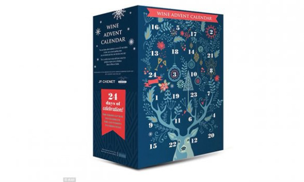 aldis wine advent calendar is hands down going to be the best part of the holidays