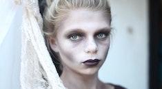 girl in zombie makeup