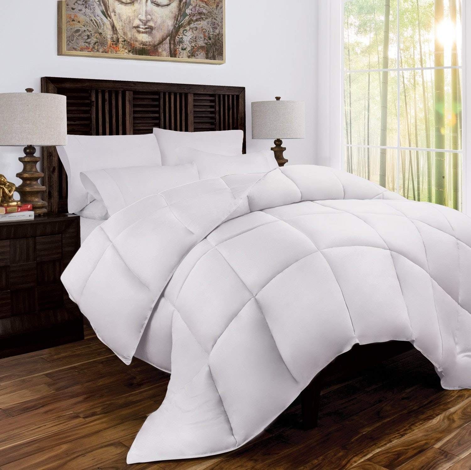 4A Brushed Bamboo U0026 Microfiber Comforter Thatu0027s Cool To The Touch
