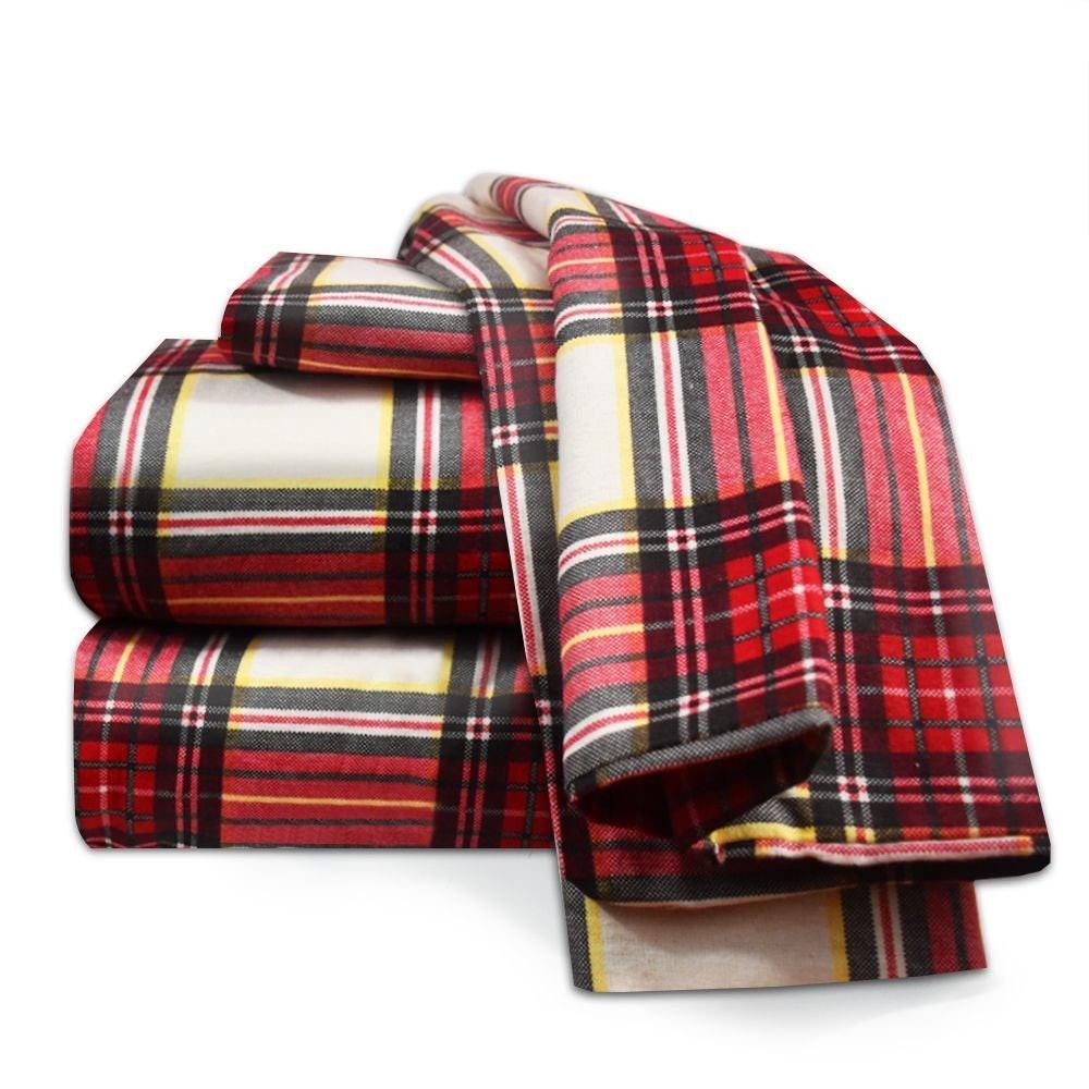 Split King 100 Cotton Luxury Winter Flannel Sheet Set Warm Cozy Heavyweight