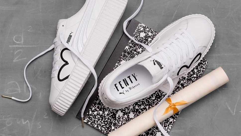 finest selection 9dc9f 763a8 When Can You Buy Rihanna x Puma White Leather Creepers? The ...