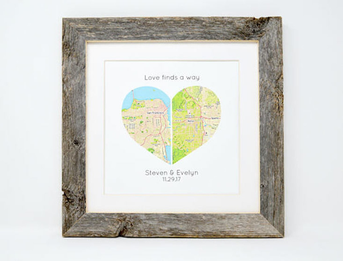 Personalized Map Print