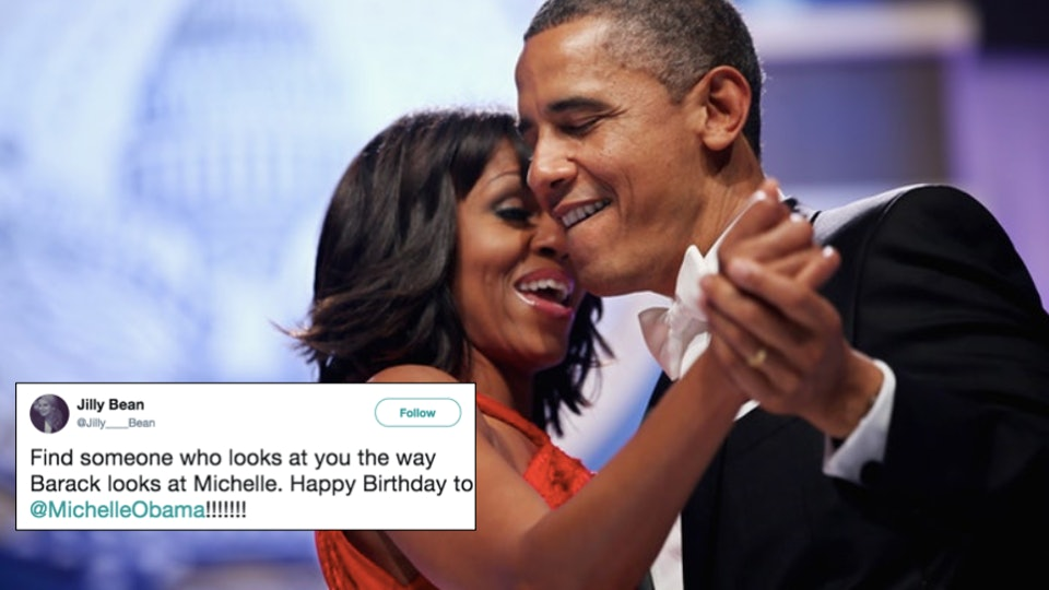 barack obama shared the sweetest birthday message to michelle the