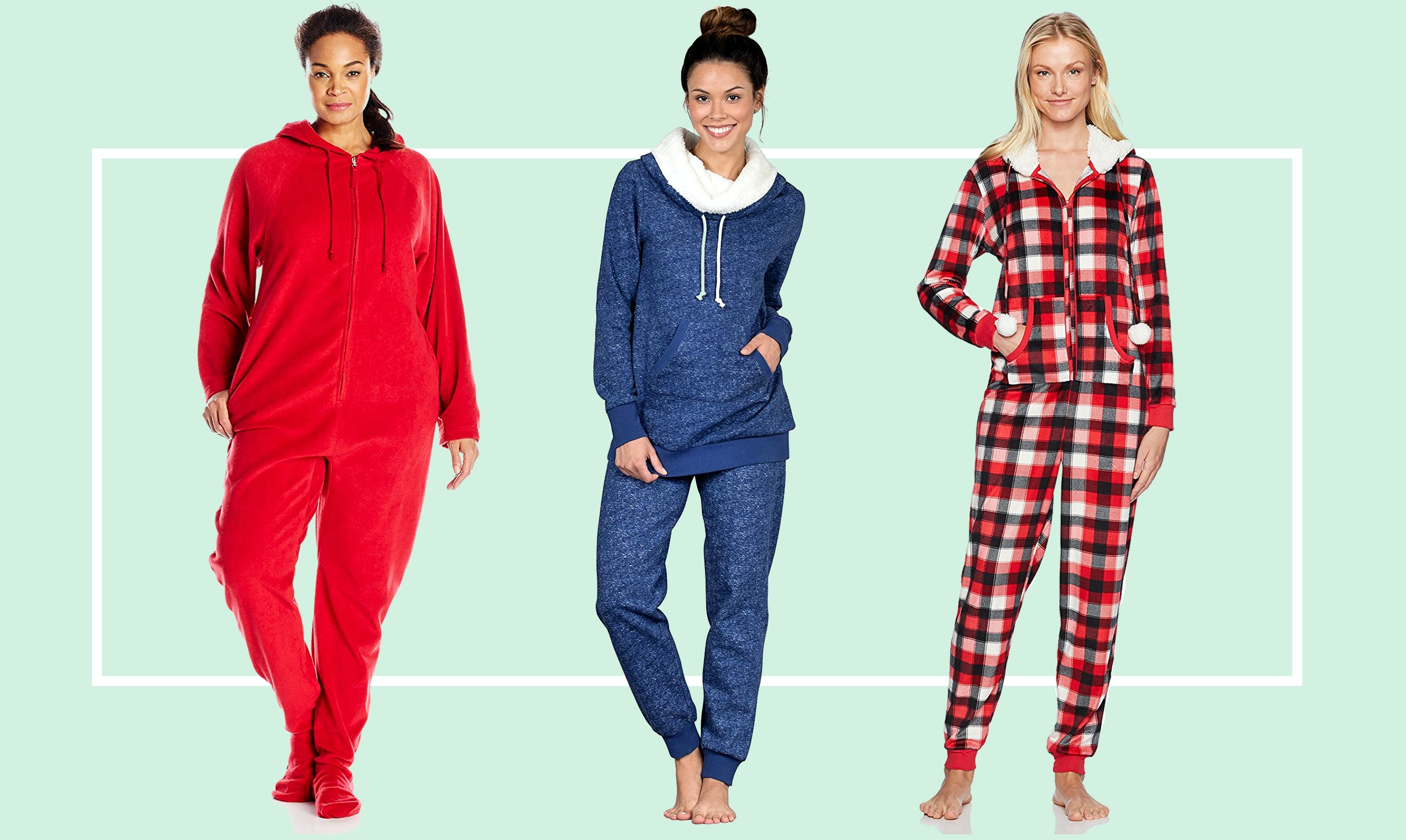 Chic and cozy winter pajamas exclusive photo
