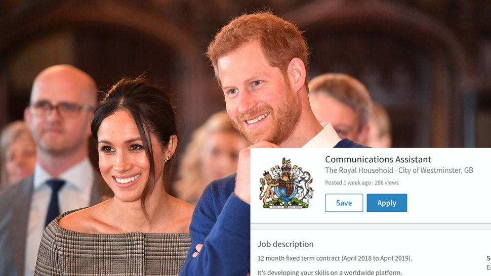 Meghan Markle Prince Harry Are Hiring A Communications Assistant
