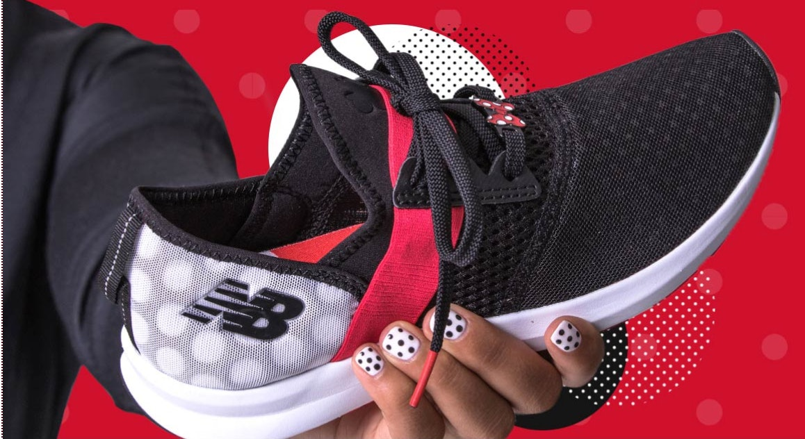 minnie mouse new balance running shoes