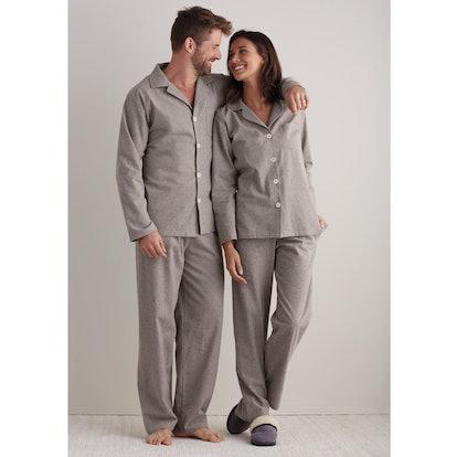 Men's & Women's Heathered Flannel Pajamas
