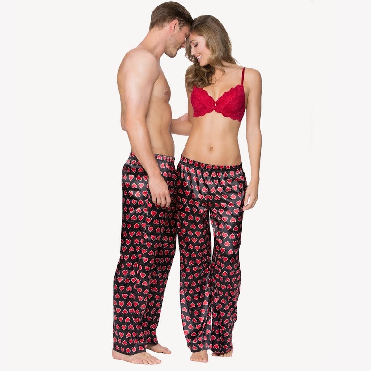 His & Her Satin Pajama Pants