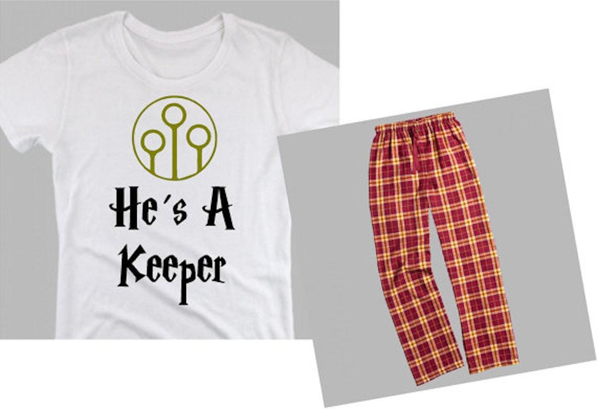He's A Keeper & She's A Catch Pajamas