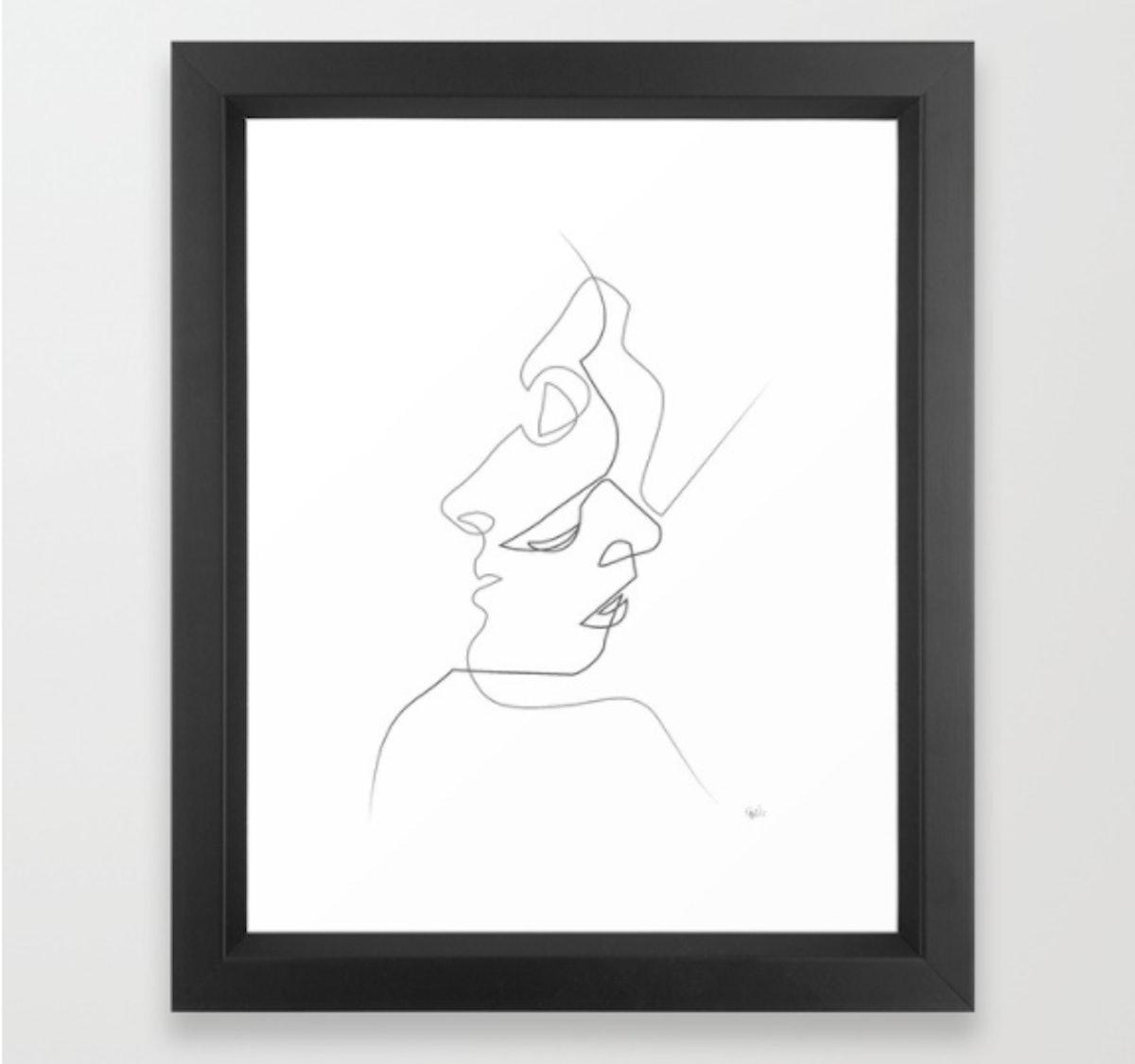 Framed Art Print (Close On White)