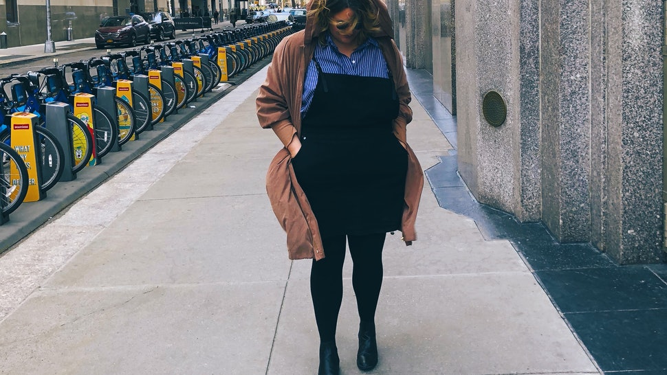 The City Chic Denim Pinafore Is The One Dress Plus Size Women Need ...