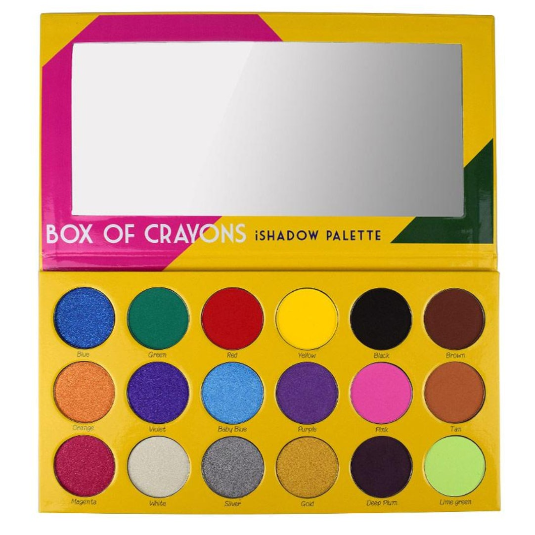 this crayon box eyeshadow palette will transport you to your youth