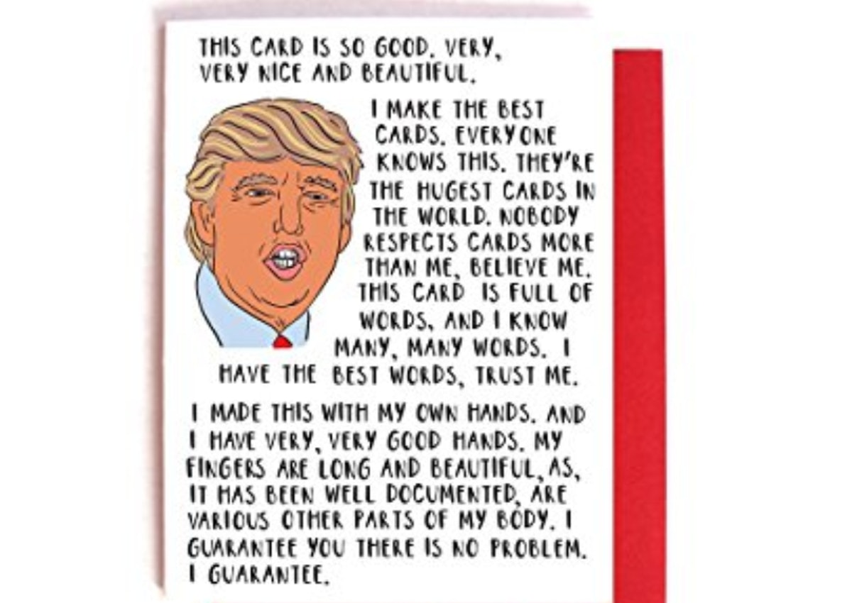 Donald Trump Bragging Card