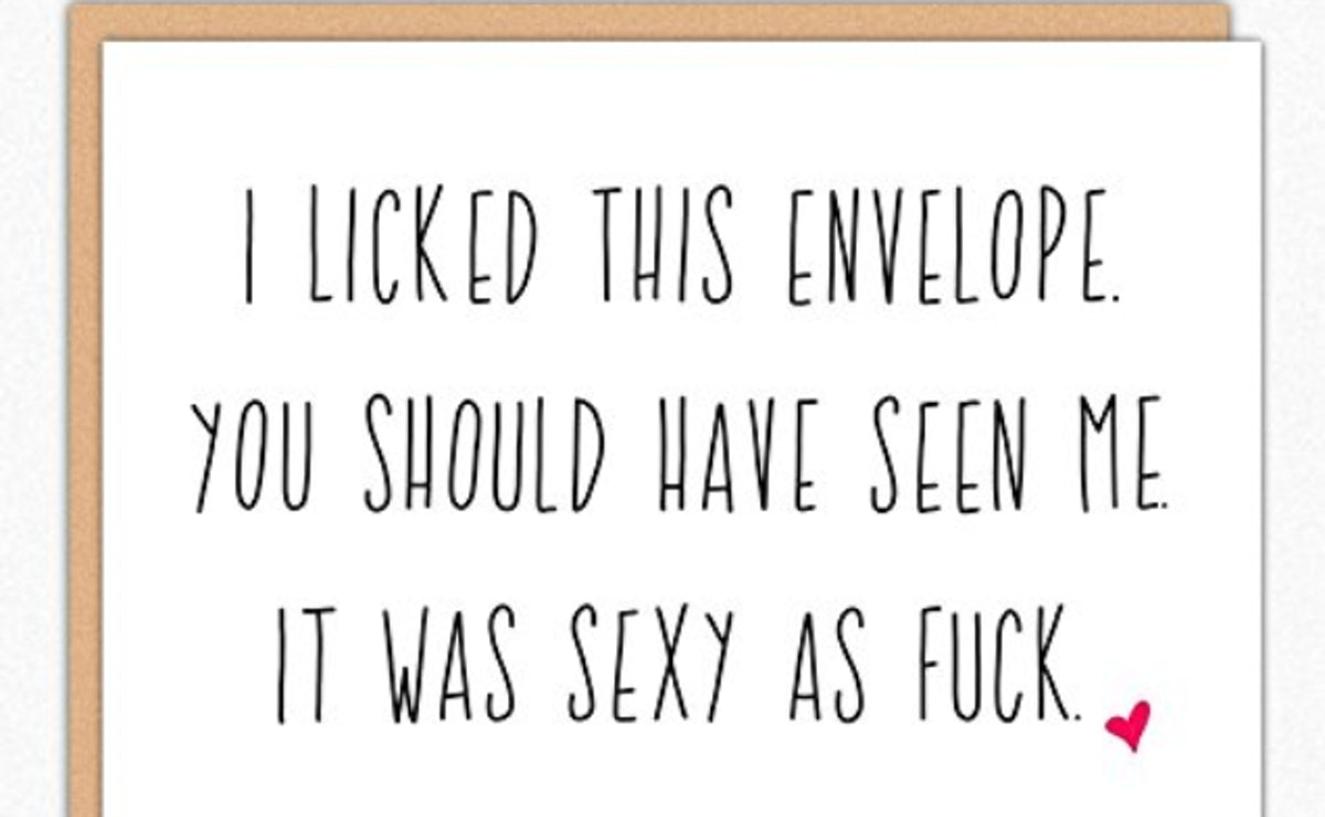 Valentines Day Card — Licked This Envelope Sexy AF