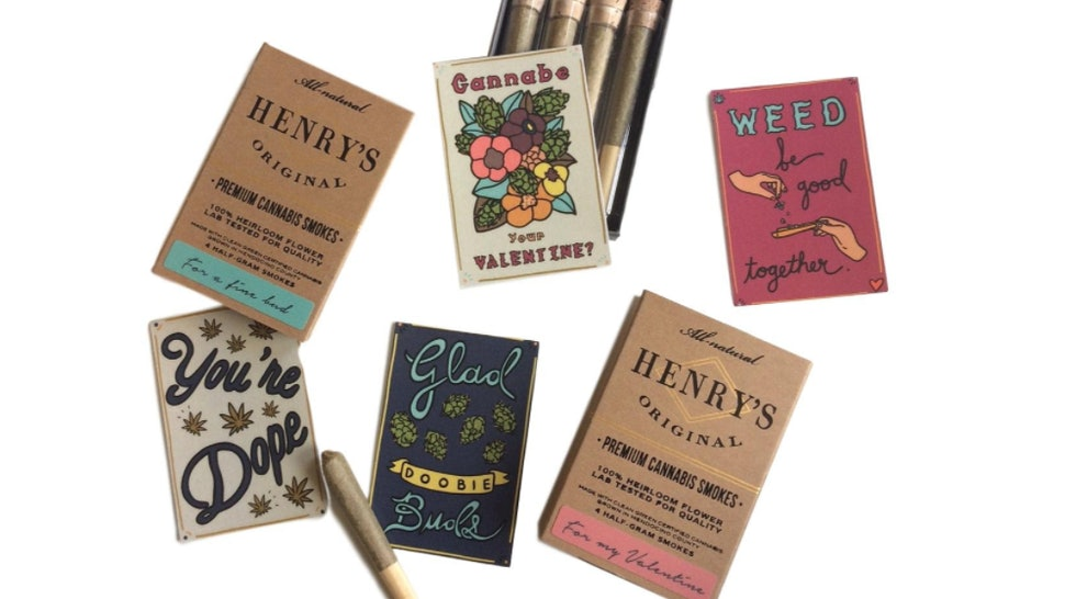 Henry S Originals Cannabis Themed Valentine S Day Cards Are The