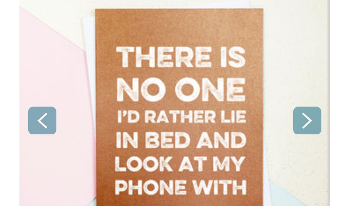 No One I'd Rather Lie In Bed With Valentine's Day Card